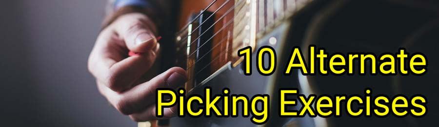 alternate picking exercises: pdf + video tabs