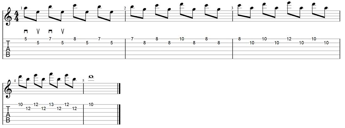 alternate picking exercise for inside picking