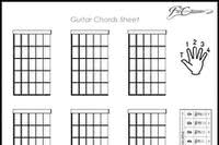 Blank Guitar Chord Sheet article icon