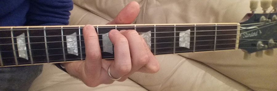 c minor chord 8655XX fingering