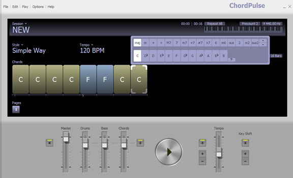 Chordpulse | Backing Tracks Software