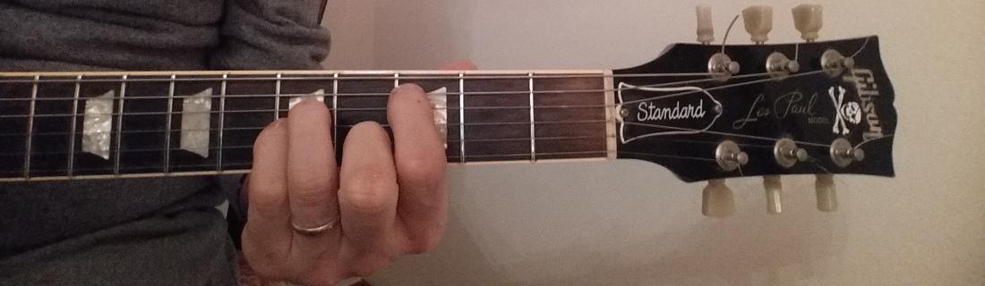 C major 7th guitar chord shape