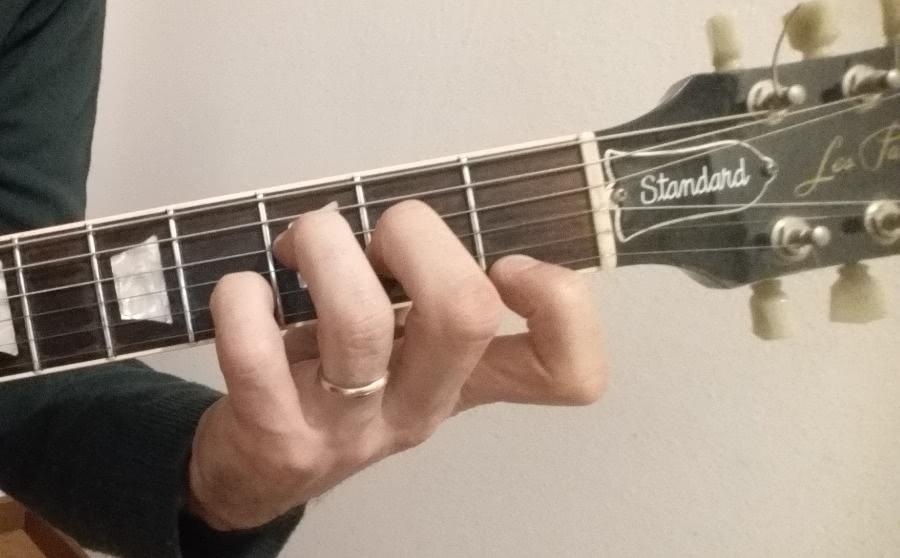 F7 guitar chord fingering shape 2
