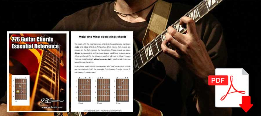 photograph regarding Printable Guitar Chords Chart Pdf named Guitar Chords Chart For Inexperienced persons No cost Pdf Obtain
