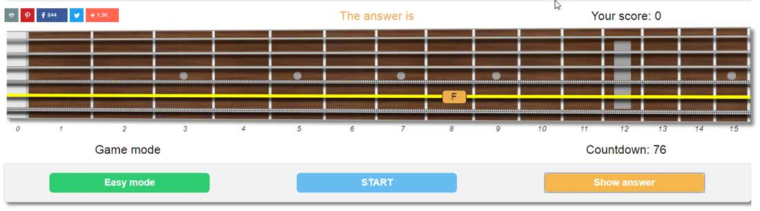 guitar fretboard trainer show answer