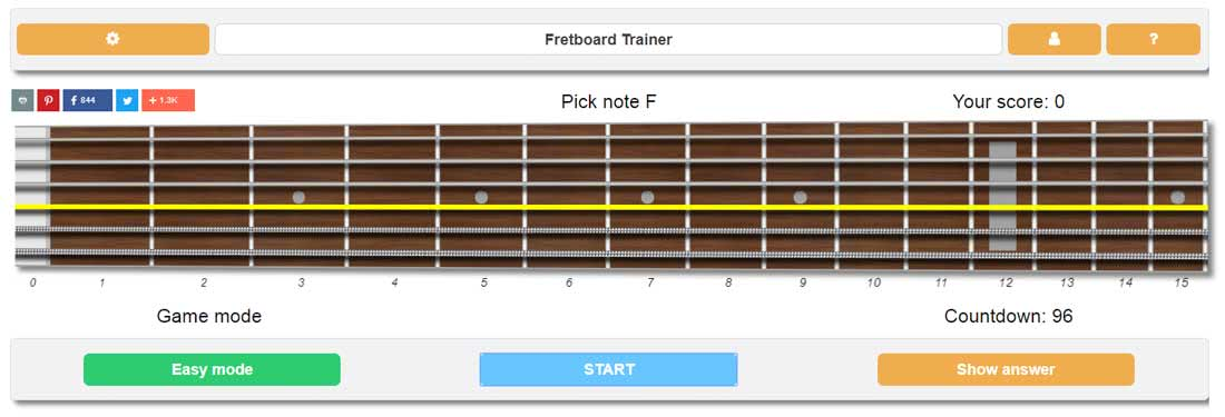 Guitar Fretboard Notes Trainer