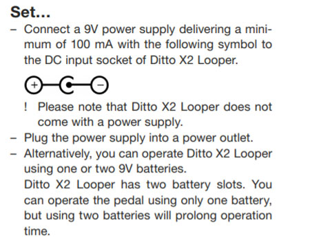 power supply for Ditto X2