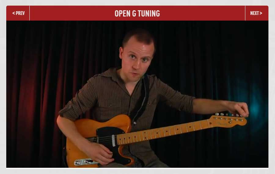 Open G tuning Video Lesson