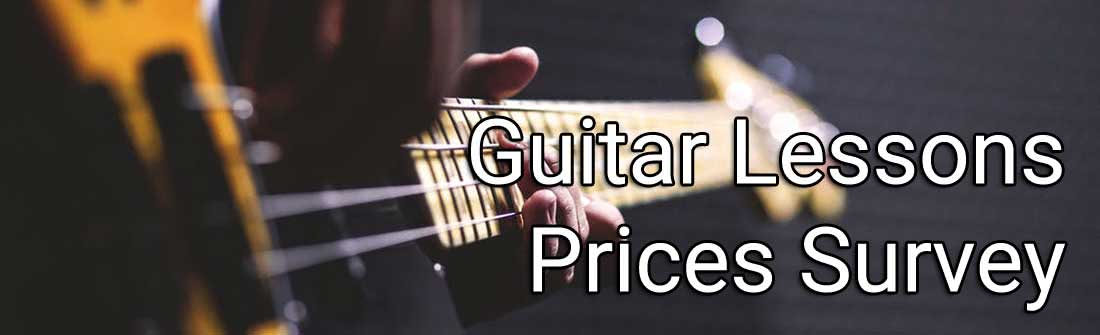 guitar lessons price survey