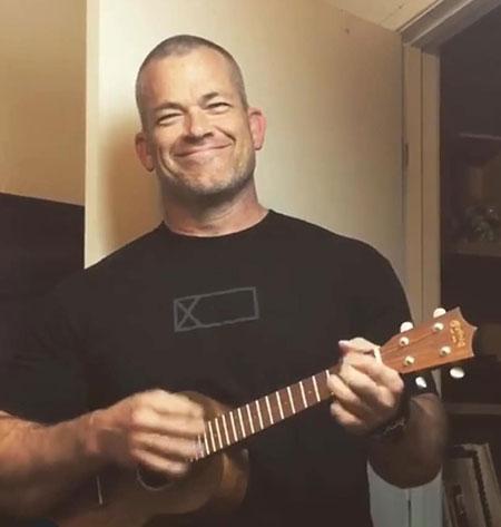 Jocko Willink with guitar
