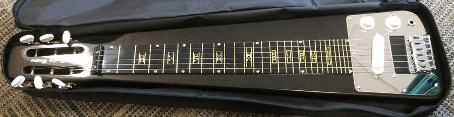 lap steel guitar black