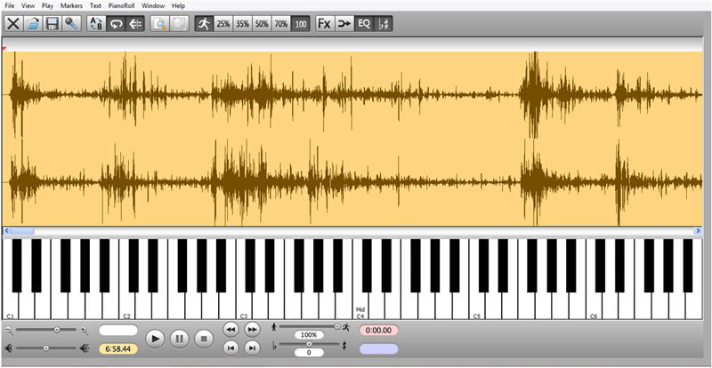 Transcribe! Software to help transcribe recorded music